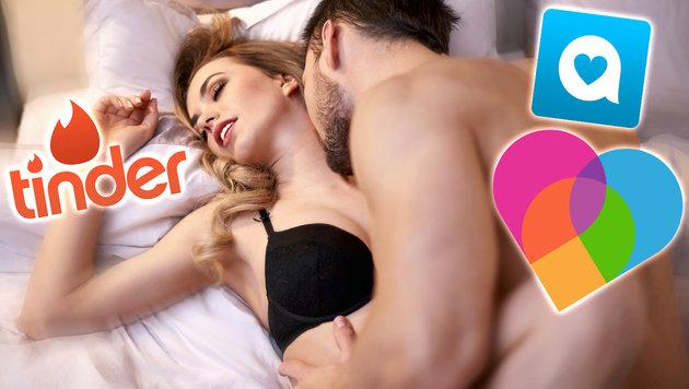 Dating-Apps könnten HIV-Epidemie auslösen (Bild: thinkstockphotos.de, Tinder, Happn, Lovoo)