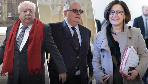 Häupl will Raiffeisen-Konrad als Innenminister (Bild: APA/HANS PUNZ, APA/HERBERT NEUBAUER, APA/GEORG HOCHMUTH)