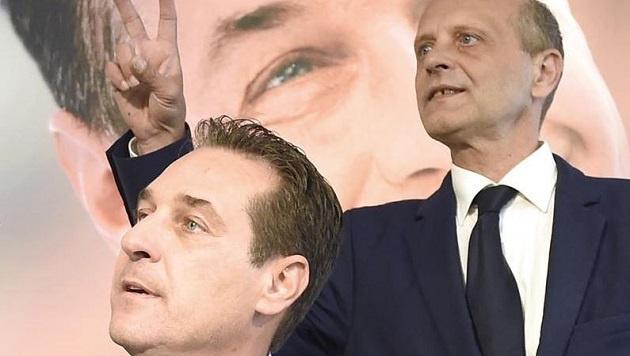 HC Strache und Schöppl gegen die FPS: Freunde werden die alten Bekannten wohl nicht mehr. (Bild: Helmut Fohringer)