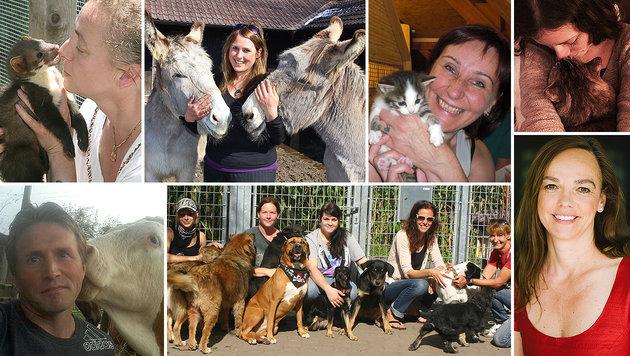 """Tierschützer und -freunde bedanken sich für die Hilfe der """"Krone Tierecke"""". (Bild: Fischer, Koekkoek, Dorn, Radspieler, Hörmandinger, Wimmer)"""