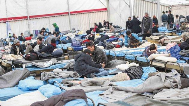 Eines der Zelte auf dem Asfinag-Gelände (Bild: Markus Tschepp)