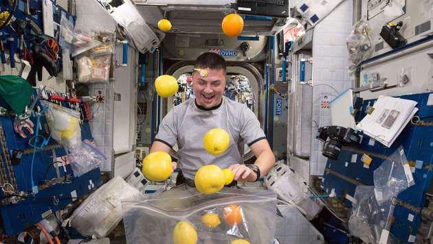 Astronaut Kjell Lindgren auf der ISS (Bild: AFP)
