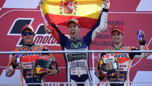 Lorenzo schnappt Rossi MotoGP-Titel weg (Bild: AFP)