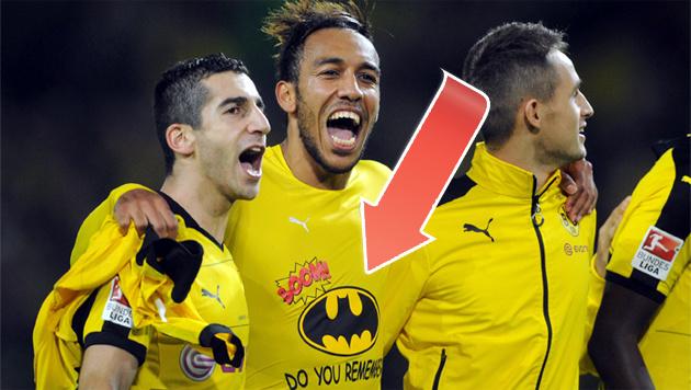 Dortmunds irrer Batman-Jubel bei Derbysieg (Bild: GEPA)