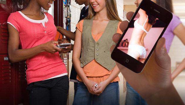 Dutzende US-Schüler in Sexting-Ring verwickelt (Bild: dpa/Julian Stratenschulte, thinkstockphotos.de (Symbolbild))