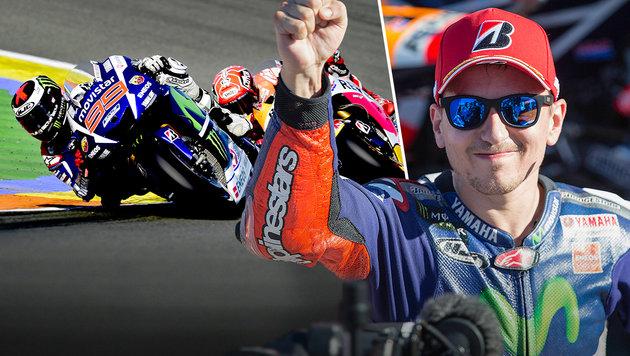 Lorenzo schnappt Rossi MotoGP-Titel weg (Bild: GEPA, AFP)