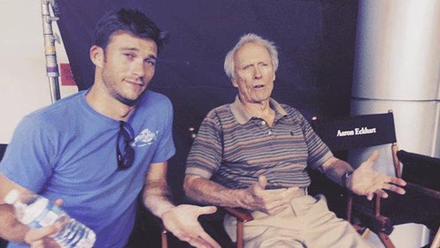 Clint Eastwood mit seinem Sohn Scott (Bild: Viennareport)