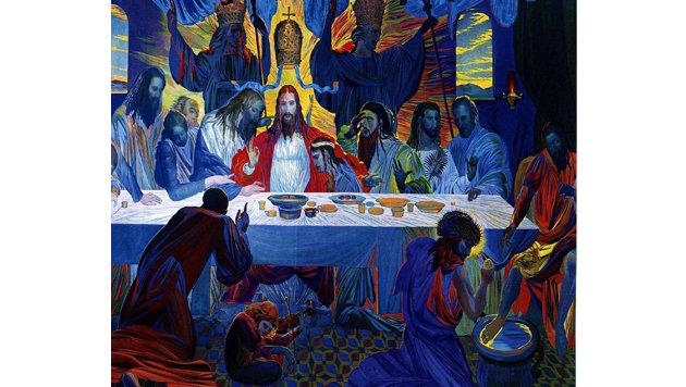 """Die Werke von Ernst Fuchs: """"Das Heilige Abendmahl"""" (Bild: APA)"""