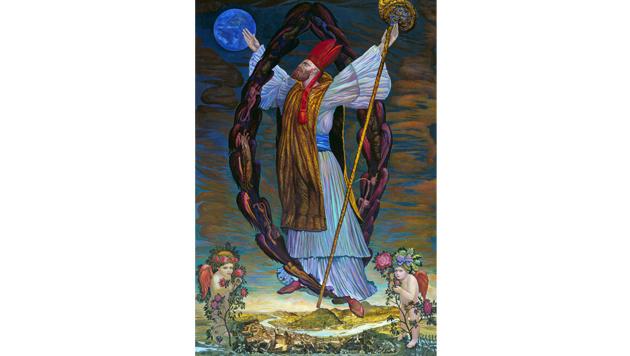 """Die Werke von Ernst Fuchs: Das Gemälde """"Hl. Virgil"""" (Bild: PROFESSOR ERNST FUCHS/DOMMUSEUM)"""
