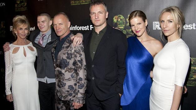 Popstar Sting im Kreise seiner großen Familie (Bild: Viennareport)