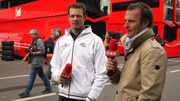 Wurz als TV-Experte mit Ernst Hausleitner (Bild: GEPA)