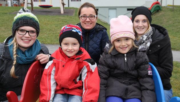 Die Kleinen des Reichenauer Kindergartens sind bei (fast) jedem Wetter draußen. (Bild: Kronen Zeitung)