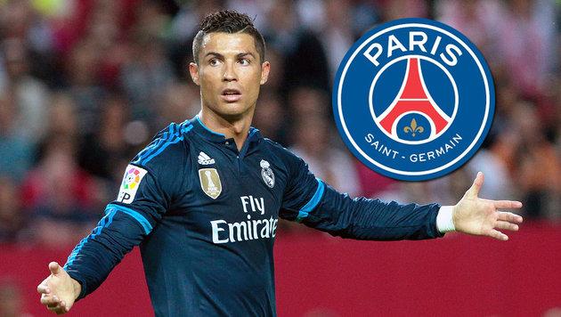 Ronaldo: Real-Star in Gedanken schon bei PSG? (Bild: AP, psg.fr)