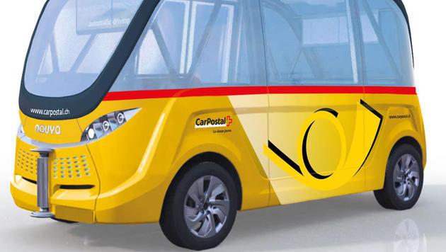 Schweizer Post testet autonome Shuttle-Busse (Bild: postauto.ch)