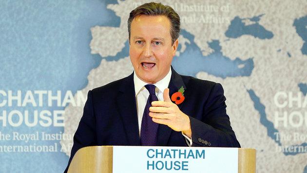 Großbritanniens Premierminister David Cameron hofft auf einen Verbleib seines Landes in der EU. (Bild: AP)