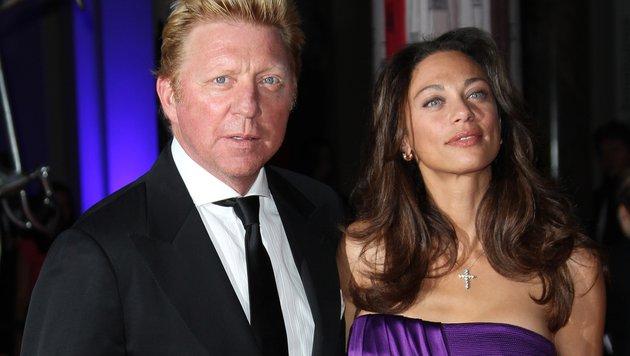 Boris Becker und Lily Becker (Bild: AP)