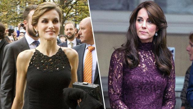 Königin Letizia und Herzogin Kate: Stressberuf! (Bild: AFP, Viennareport)