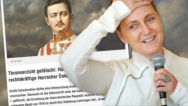 Francesca Habsburg geht Satire auf den Leim (Bild: dietagespresse.com, APA/ROLAND SCHLAGER)