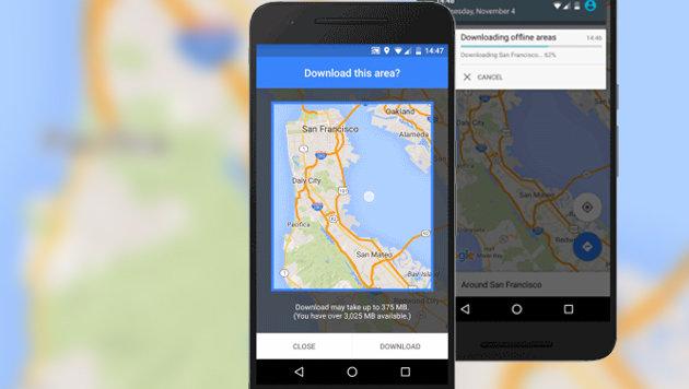 Google Maps sucht jetzt auch offline nach Routen (Bild: Google, krone.at-Grafik)