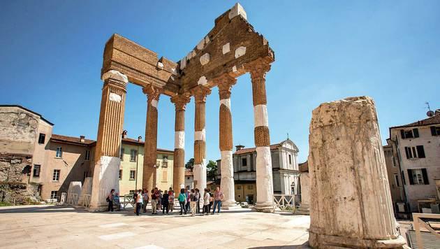 Die Piazza del Foro war zu römischer Zeit das Zentrum von Brescia. (Bild: Bresciatourismus)