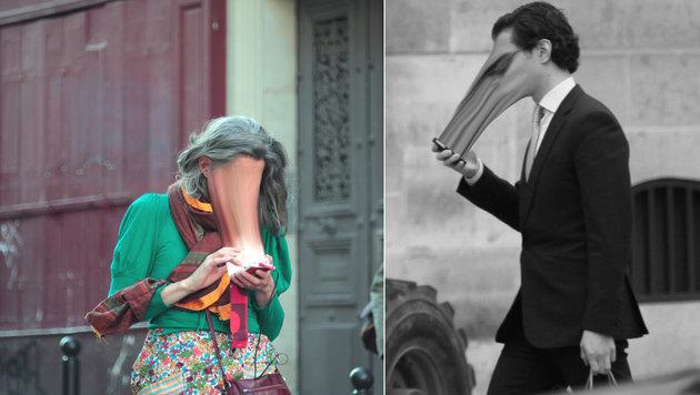 Bizarre Fotos: Wenn das Handy das Gesicht einsaugt (Bild: Antoine Geiger)