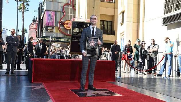 Daniel Radcliffe bei der Sternen-Zeremonie (Bild: APA/AFP/ROBYN BECK)