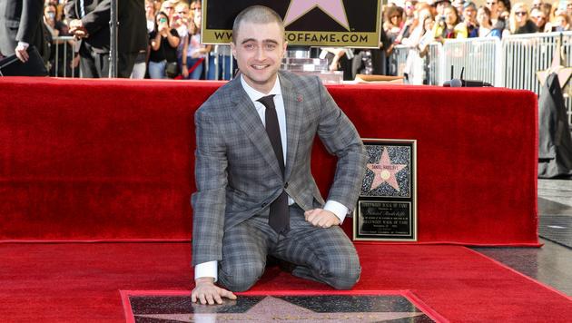 """Daniel Radcliffe hat jetzt einen Stern am """"Walk of Fame"""". (Bild: Rich Fury/Invision/AP)"""