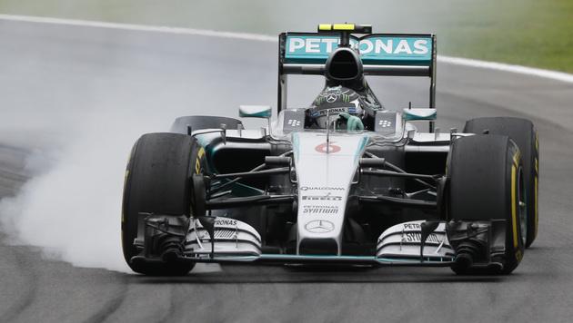 Tagesbestzeit für Nico Rosberg in Brasilien (Bild: AP)