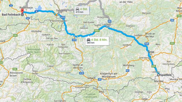 Ein Paris-Attentäter reiste quer durch Österreich! (Bild: Google-Maps)