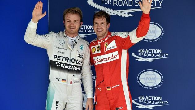 Rosberg fixiert in Sao Paulo fünfte Pole in Serie (Bild: APA/AFP/NELSON ALMEIDA)