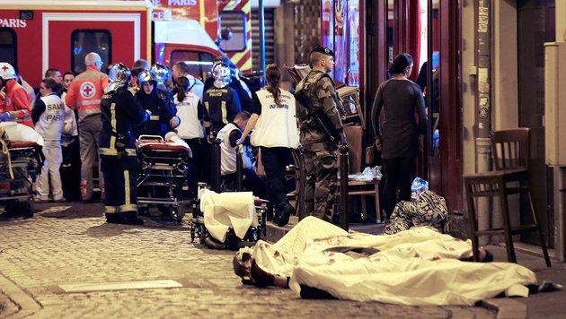 13. November 2015: Bei Terroranschlägen in Paris kommen  130 Menschen ums Leben. (Bild: AP)