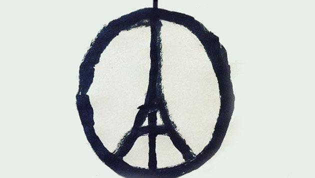 """""""Paris-Attentate: Mit Kunst gegen den Terror (Bild: Twitter.com)"""""""