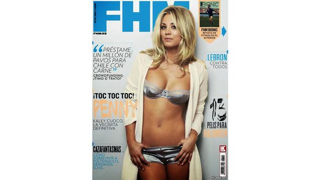 """In knappen Dessous zeigte sich Kaley Cuoco vor einigen Jahren auf der """"FHM"""". (Bild: Viennareport)"""