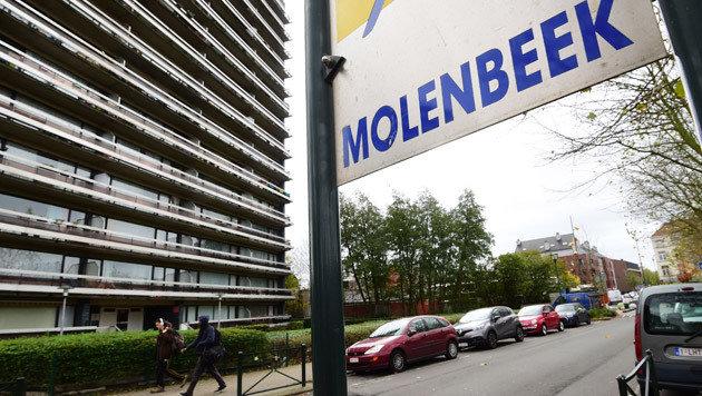 Zahlreiche belgische Attentäter stammen aus dem Stadtteil Molenbeek. (Bild: APA/AFP/EMMANUEL DUNAND)