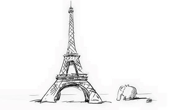 """""""Paris-Attentate: Mit Kunst gegen den Terror (Bild: Facebook.com/OttoWaalkes)"""""""