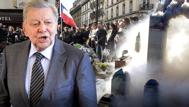 """Hugo Portisch: """"Europa hat ein Recht auf Krieg"""" (Bild: APA/HERBERT NEUBAUER, AFP, dpa)"""
