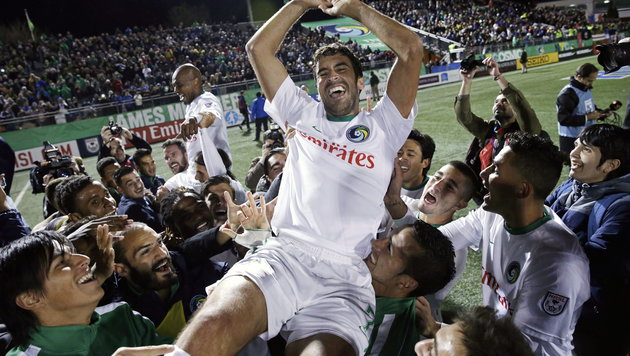 Real-Legende Raul beendet Karriere mit Titelgewinn (Bild: APA/EPA/PETER FOLEY)