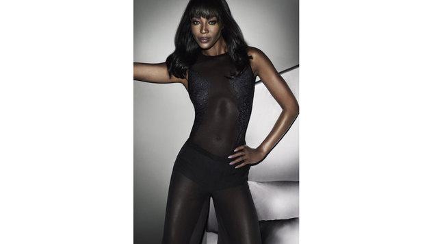 Naomi Campbell hat für Yamamay Höschen, Büstenhalter und sogar Ganzkörperstrumpfhosen kreiert. (Bild: Viennareport)