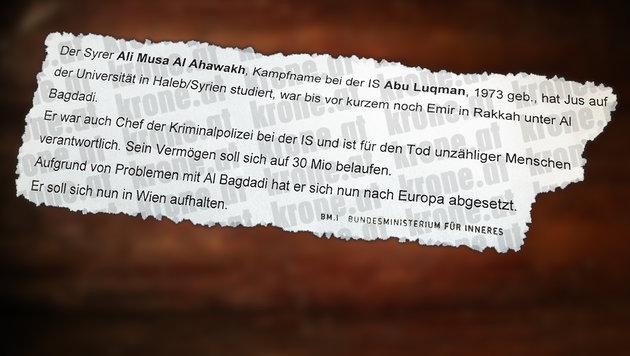Paris-Attentäter befindet sich in Österreich (Bild: Kronen Zeitung)