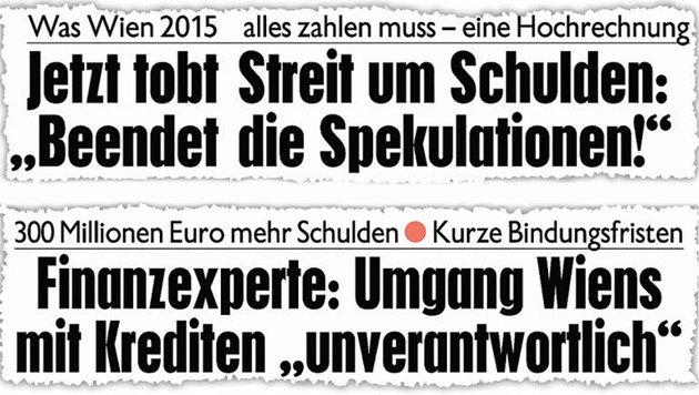 """Die """"Krone"""" warnt schon seit Jahren vor einem finanziellen Desaster. (Bild: Kronen Zeitung)"""