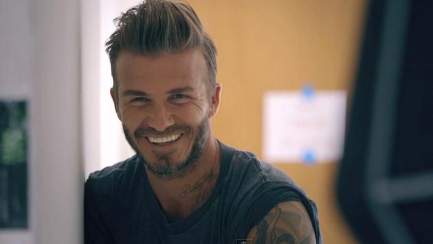 """David Beckham wurde vom """"People""""-Magazin zum """"Sexiest Man Alive"""" gekürt. (Bild: YouTube.com)"""
