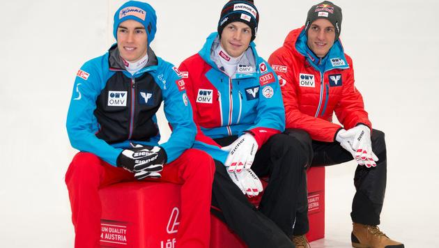 Skisprung-Weltcup: Drei Adler für alle Fälle (Bild: APA/EXPA/JOHANN GRODER)