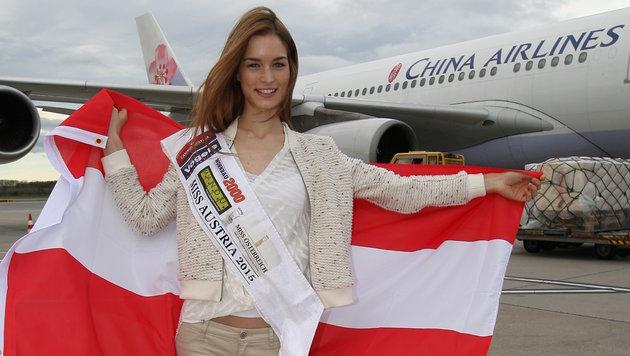 """Annika Grill vertritt unser Land bei der """"Miss World""""-Wahl in Sanya in China Sanya. (Bild: MAC)"""