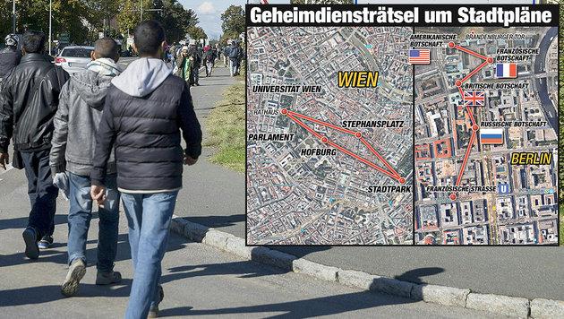 Flüchtling schlägt Alarm: Anschlagspläne für Wien (Bild: APA/ERWIN SCHERIAU, Krone-Grafik)