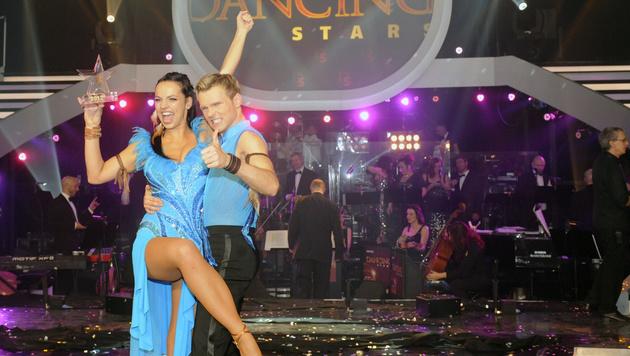 """""""Dancing Star"""" Petra Frey mit Tanzpartner Vadim Garbuzov (Bild: APA/HERBERT P.OCZERET)"""