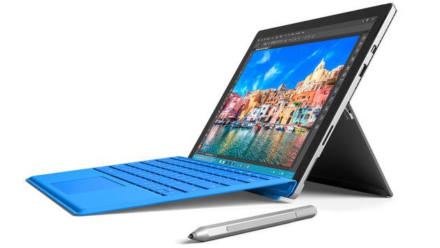 Fast am Ziel: Microsoft Surface Pro 4 am Prüfstand (Bild: Microsoft)