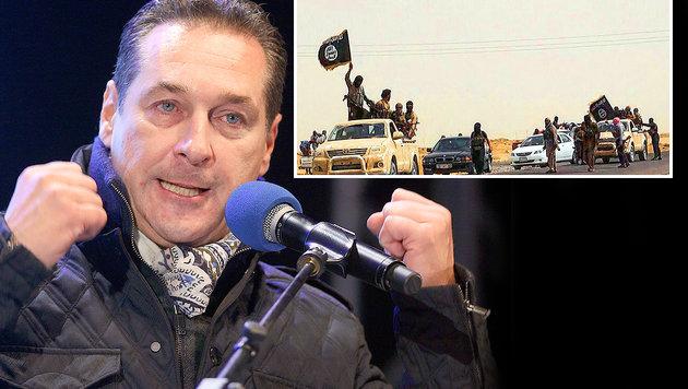 Strache will Dschihadisten auf Insel verbannen (Bild: AP, AFP)