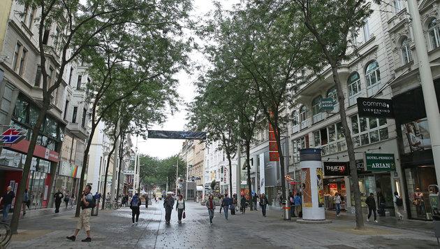 Wiens meistdiskutierte Einkaufsmeile: die Mariahilfer Straße (Bild: Peter Tomschi)