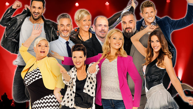 "Das sind die ""Dancing Stars"" 2016 (Bild: ORF/Thomas Ramstorfer, krone.at-Grafik)"