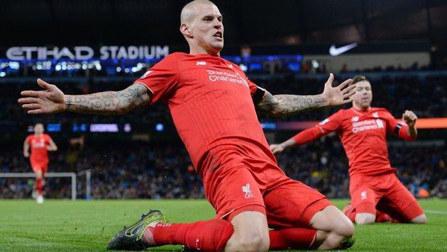 Liverpool-Verteidiger Martin Skrtel beim Bejubeln seines Treffers (Bild: AFP)